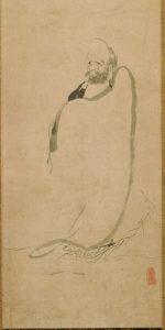 Daruma (Da Mo) painted by Miyamoto Musashi
