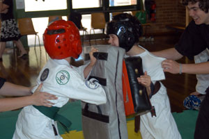 Sparring Karate kids
