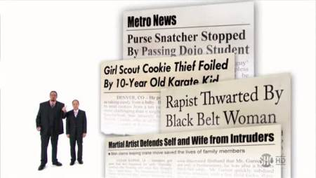 Martial arts newspaper headlines