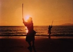 Musashi duels on the beach