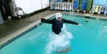 Ninja fails water walk