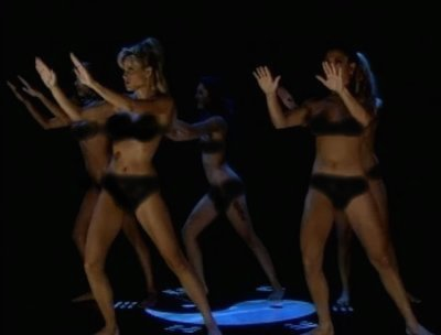 Five naked female models demonstrate Tai Chi theory, the solo hand form, ...